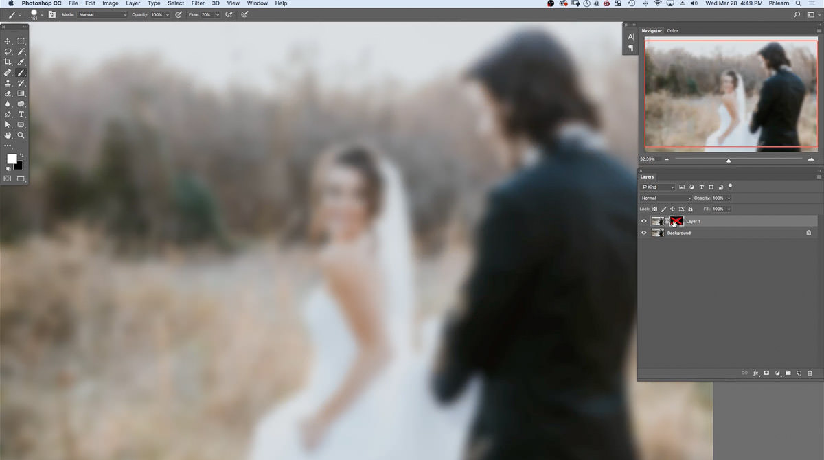 adding blur in photoshop